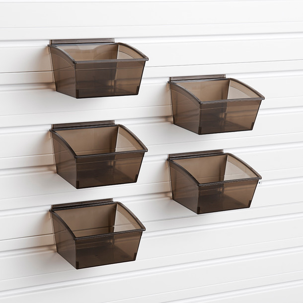 Small Hard Bins 5pk - Black