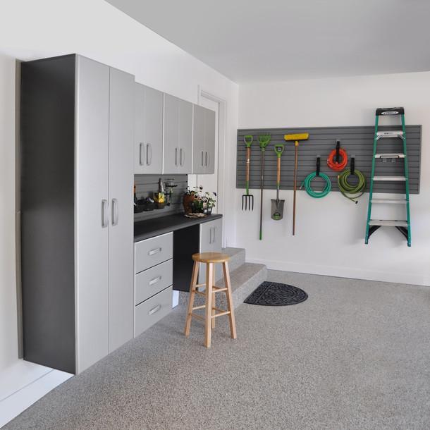 7pc Deluxe Cabinet Storage Set - Black/Silver