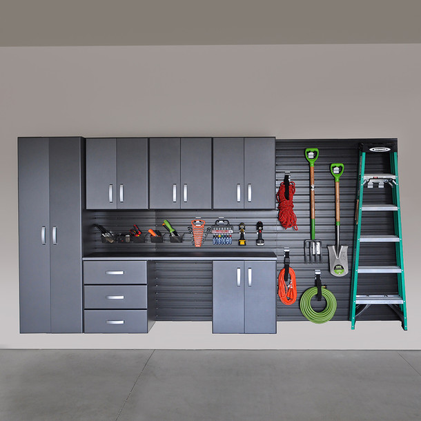 Flow Wall® 9pc Deluxe Cabinet Set - Black/Graphite Carbon