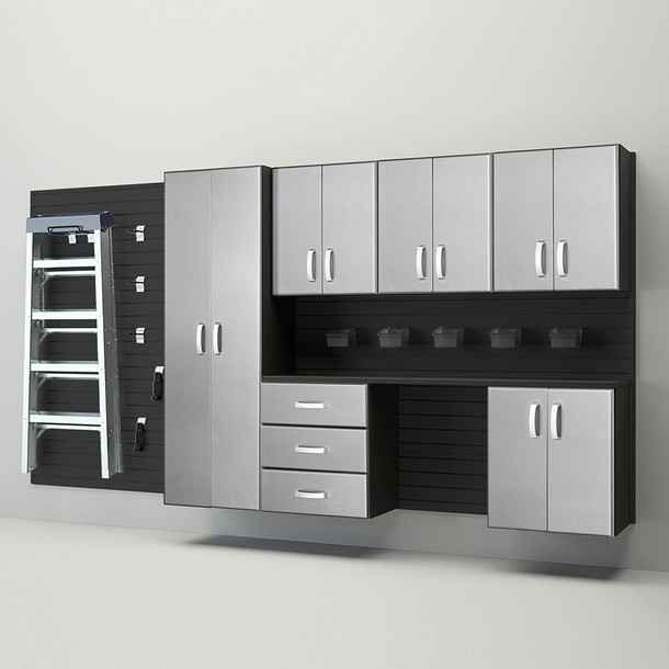 7pc Deluxe Cabinet Storage Set - Black/Platinum Carbon