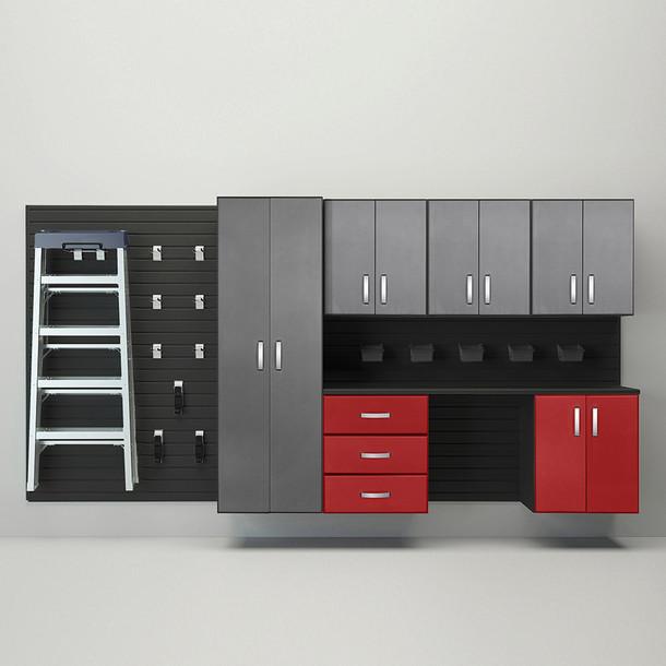 7pc Deluxe Cabinet Storage Set - Black/Graphite Red Carbon