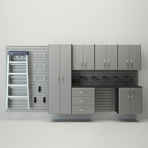 7pc Deluxe Cabinet Set - Silver