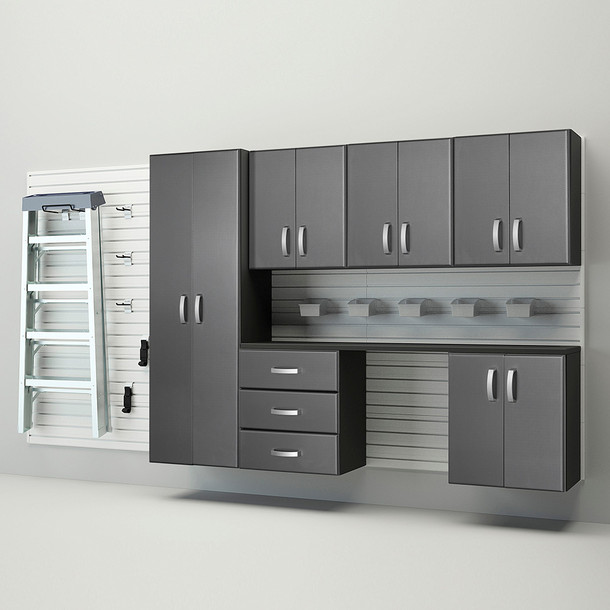 7pc Deluxe Cabinet Storage Set - White/Graphite Carbon