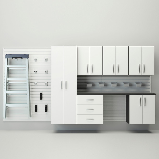 7pc Deluxe Cabinet Storage Set - White