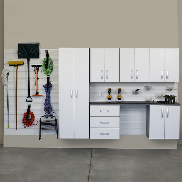 7pc Deluxe Cabinet Storage Set - White