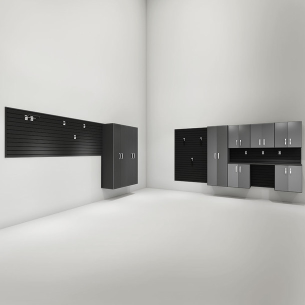 9pc Deluxe Cabinet Garage Set - Black/Graphite Carbon