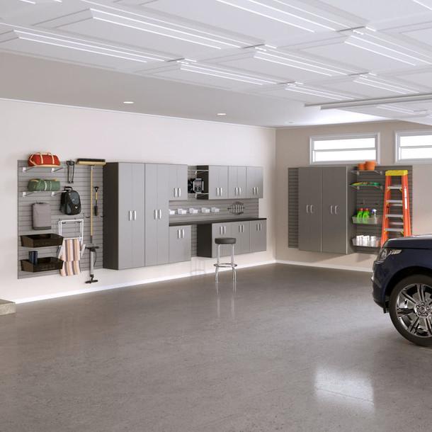 14pc Garage Cabinet Organization Set - Silver