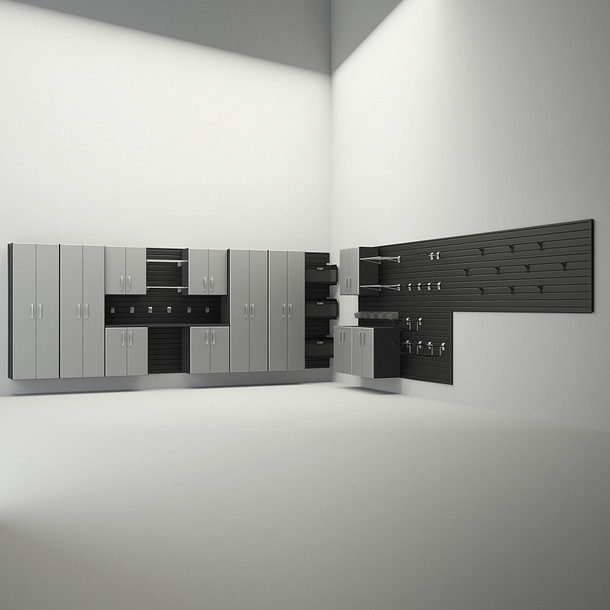 12pc Dream Garage - Black/Silver