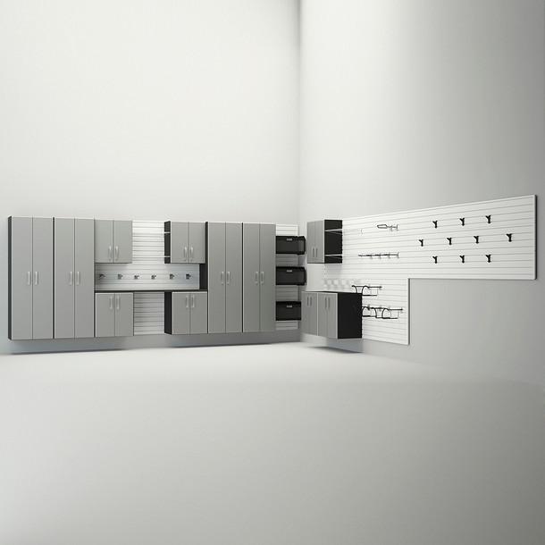 12pc Dream Garage - White/Silver