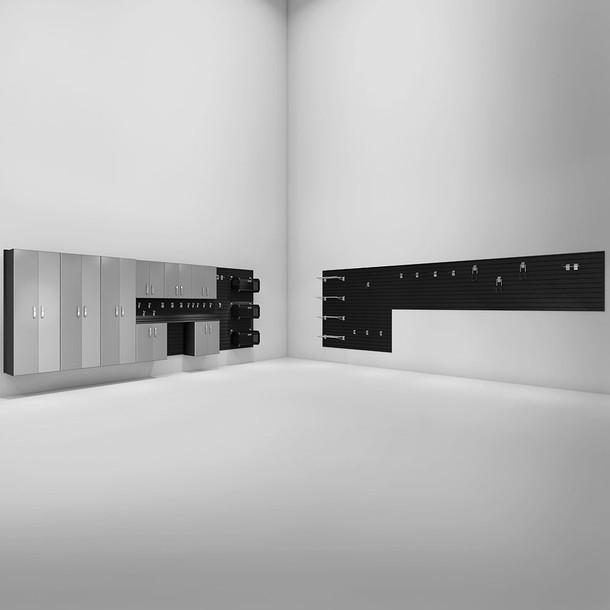 9pc Deluxe Garage Organization Set - Black/Platinum Carbon