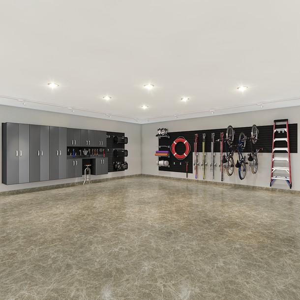9pc Deluxe Garage Organization Set - Black/Graphite Carbon