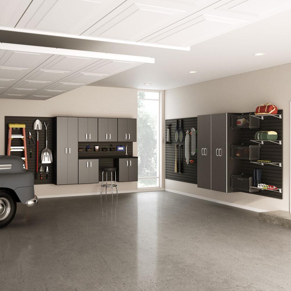 9pc jumbo cabinet storage set carbon