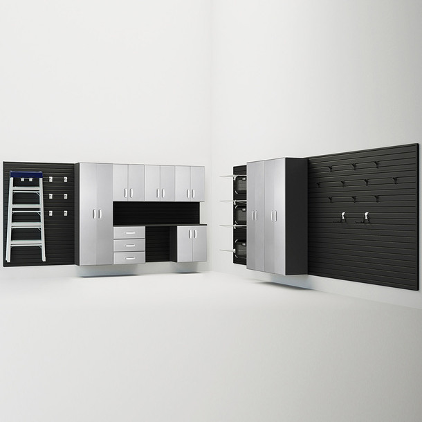 9pc Jumbo Cabinet Storage Set - Black/ Platinum Carbon