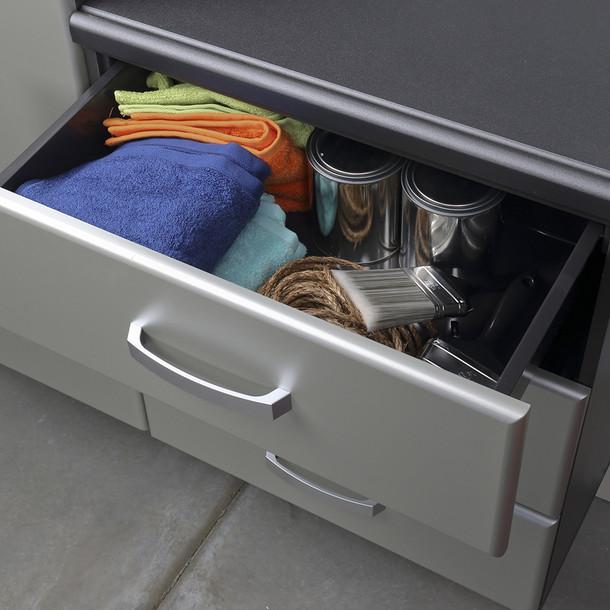 9pc Jumbo Cabinet Storage Set - Silver