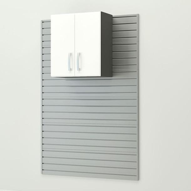 13pc Deluxe Cabinet Set - Silver/White