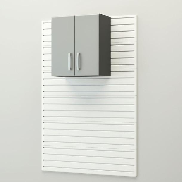 13pc Deluxe Cabinet Set - White/Silver