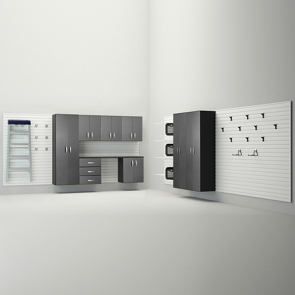 9pc Jumbo Cabinet Storage Set - White/Graphite Carbon
