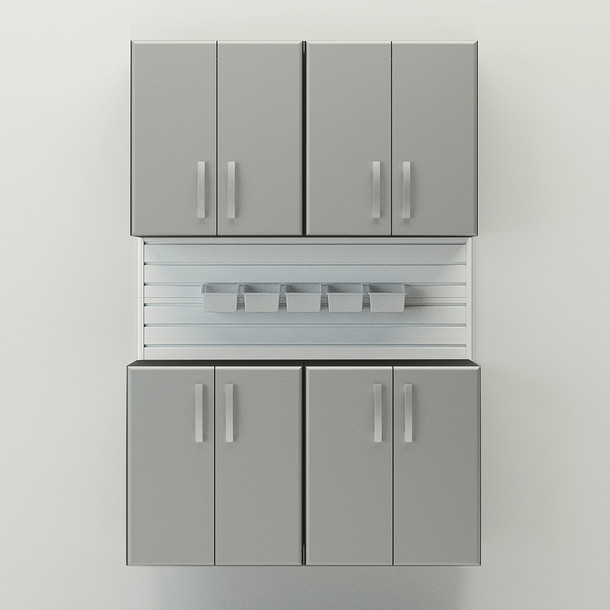 5pc Cabinet Set - White/Silver
