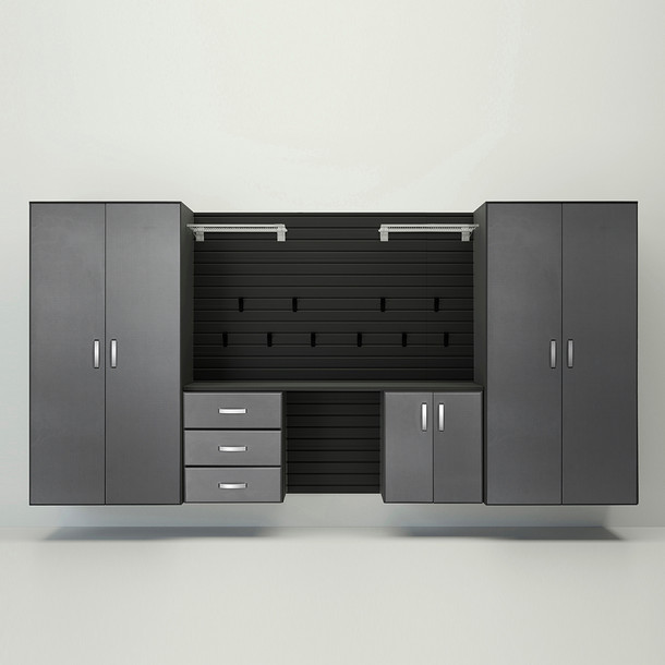 5pc Deluxe Garage Workstation - Black/Graphite Carbon