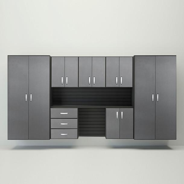 8pc Cabinet Deluxe Workstation - Black/Graphite Carbon