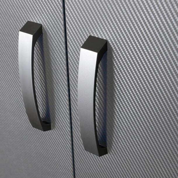 4pc Jumbo Cabinet Storage Center - Black/Platinum Carbon