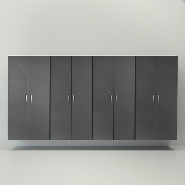 4pc Jumbo Cabinet Storage Center - Black/Graphite Carbon