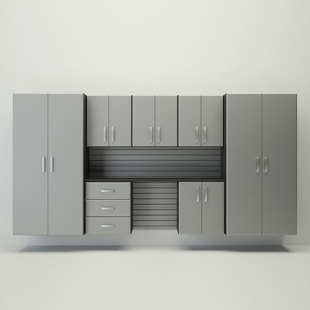 8pc Cabinet Deluxe Workstation - Silver