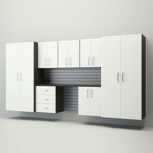 Jumbo Deluxe Workstation - Silver/White