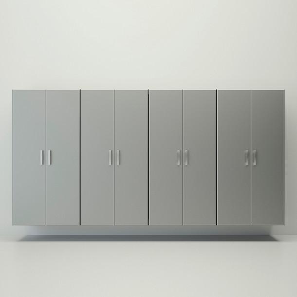 4pc Jumbo Cabinet Storage Center - Silver