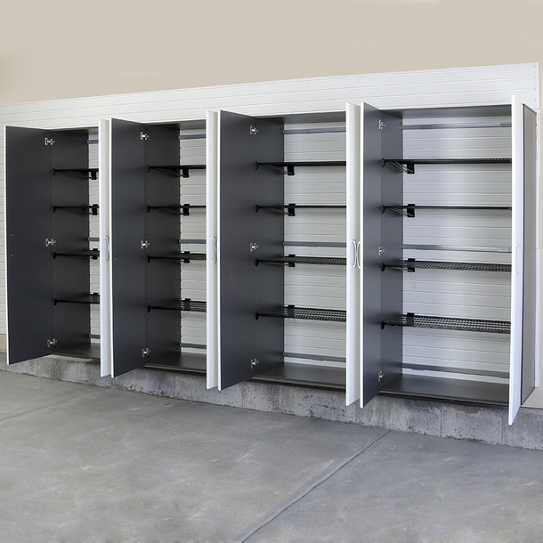4pc Jumbo Cabinet Storage Center - Silver