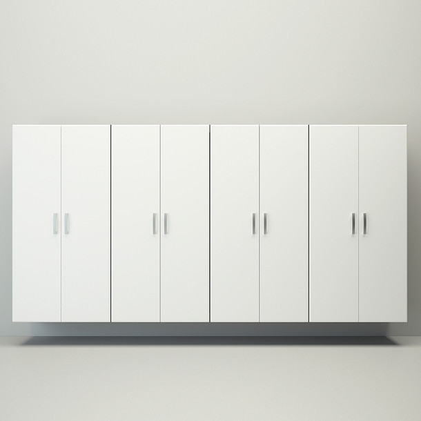 4pc Jumbo Cabinet Storage Center - Silver/White