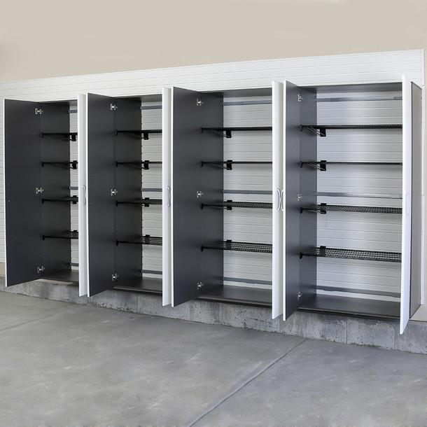 4pc Jumbo Cabinet Storage Center - Silver/White