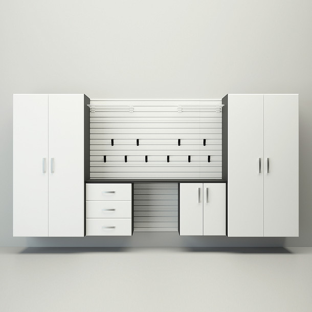 5pc Deluxe Garage Workstation - White
