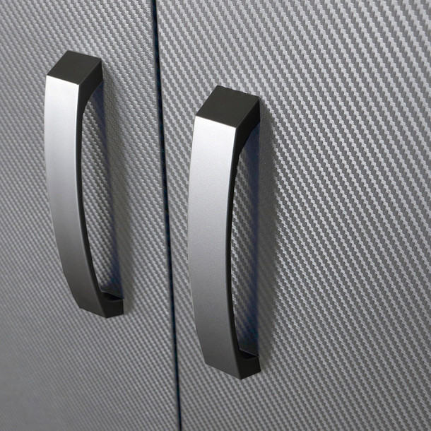 5pc Deluxe Garage Workstation - White/Platinum Carbon
