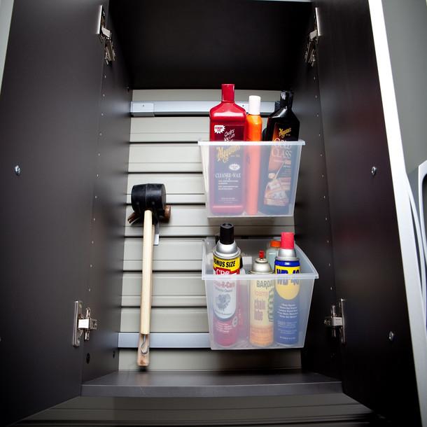 8pc Cabinet Deluxe Workstation - White/Graphite Carbon