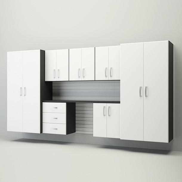 10pc Jumbo Deluxe Workstation - White