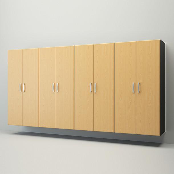 6pc Jumbo Cabinet Storage Center - White/Maple