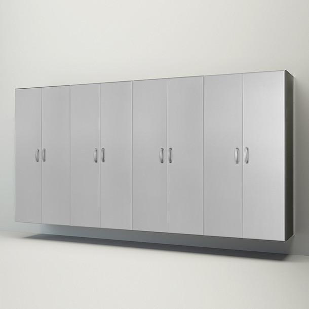 4pc Jumbo Cabinet Storage Center - White/Platinum Carbon