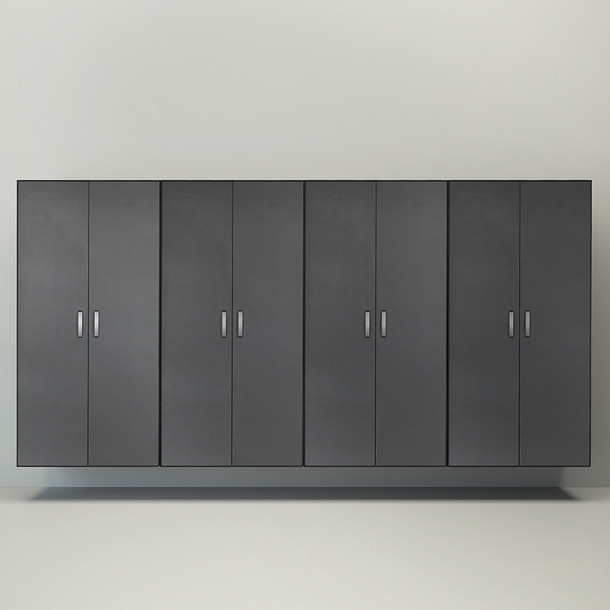 4pc Jumbo Cabinet Storage Center - White/Graphite Carbon