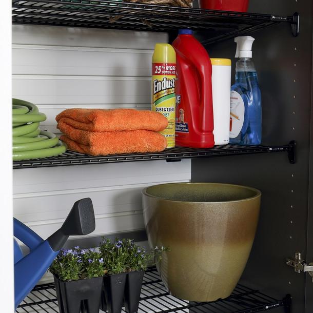 Flow Wall® 6pc Jumbo Cabinet Storage Center - White/Graphite Carbon
