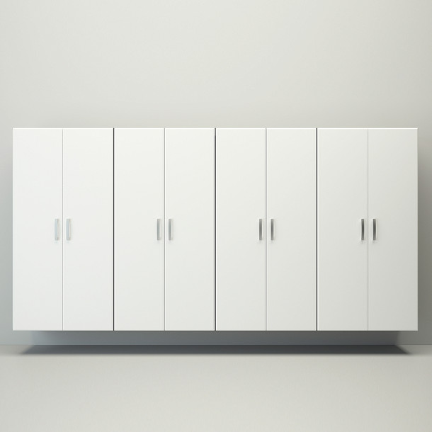 4pc Jumbo Cabinet Storage Center - White