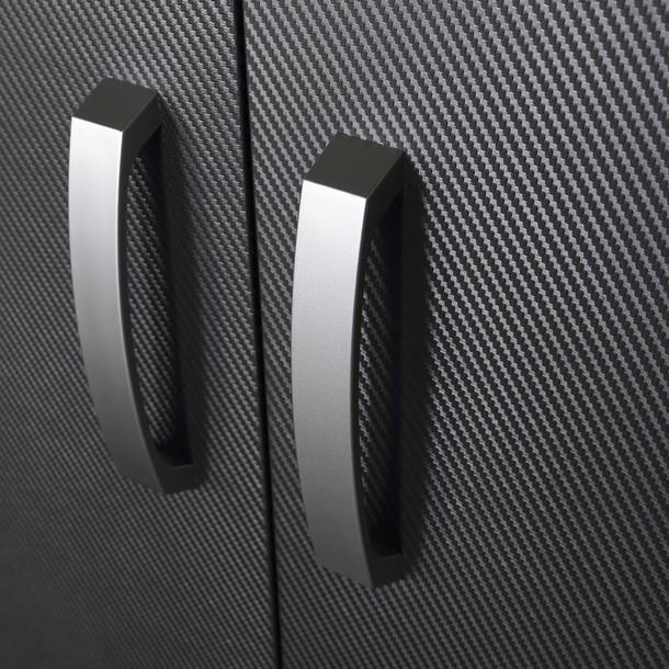 3pc Tall Cabinet Storage Set - Black/Graphite Carbon
