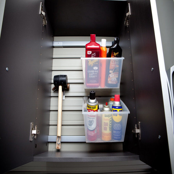 5pc Complete Storage Cabinet Set - Black/Silver