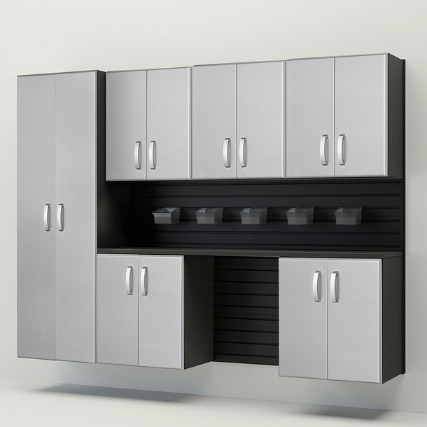 7pc Cabinet Storage Set - Black/Platinum Carbon