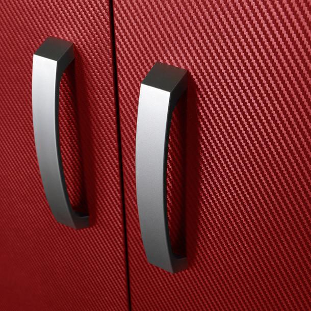 7pc Cabinet Storage Set - Black/Red Carbon