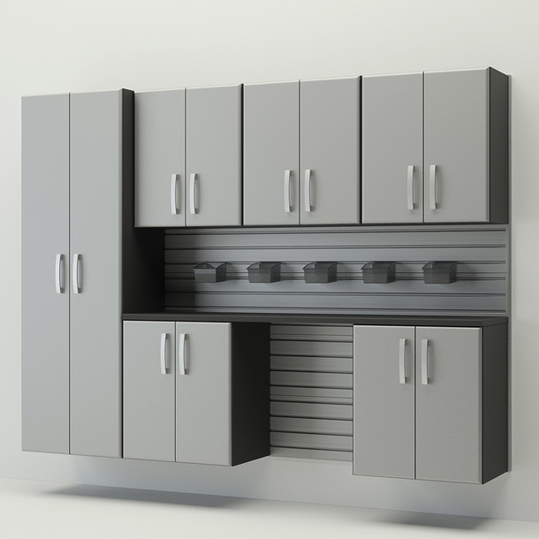 7pc Cabinet Storage Set - Silver