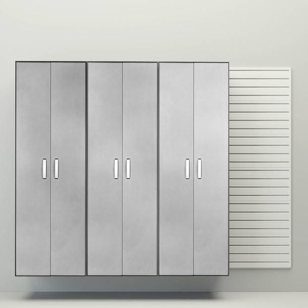 Flow Wall® 3pc Tall Cabinet Storage Set - White/Platinum Carbon