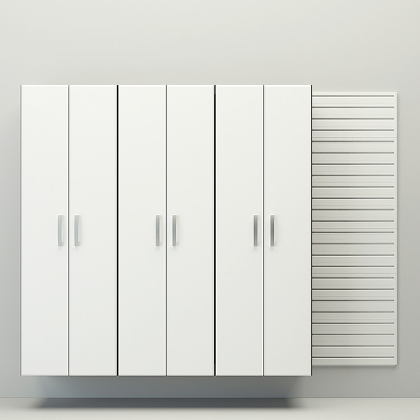 4pc Tall Cabinet Set - White