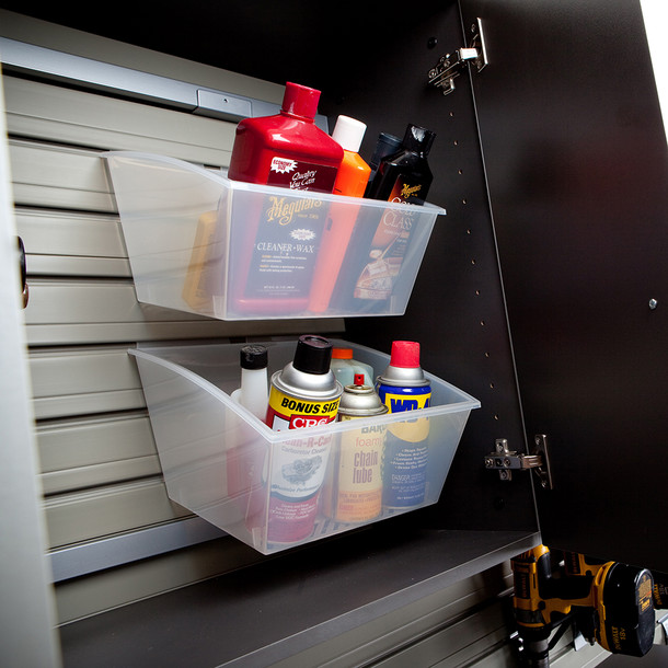 3pc Tall Cabinet Storage Set - White