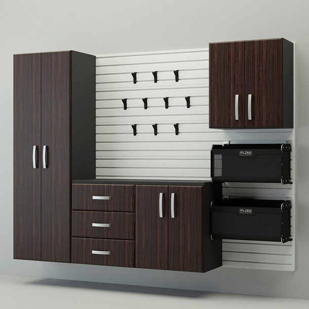 5pc Complete Storage Cabinet Set - Espresso